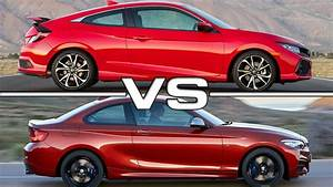 2017 Honda Civic Si Coupe Vs 2018 Bmw M240i