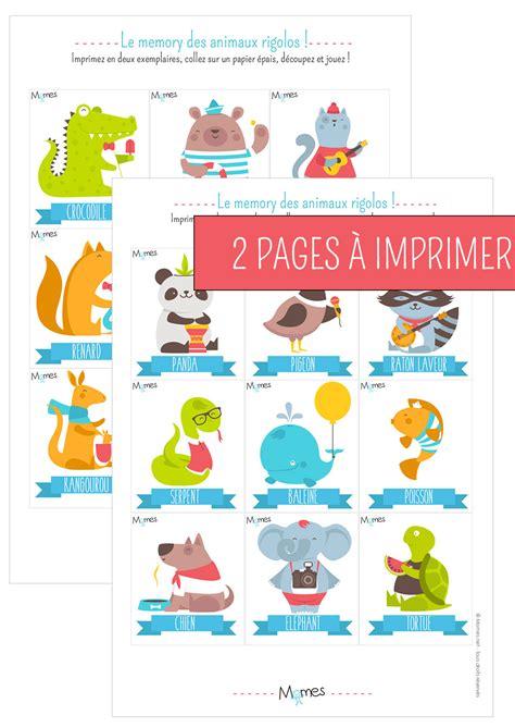 Carte De à Imprimer by Memory Animaux Jeu 224 Imprimer Momes Net