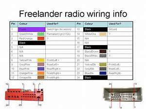 2004 Land Rover Freelander Stereo Wiring Diagram
