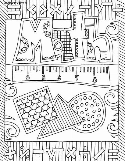 Math Notebook Coloring Printable Binder Covers Pages
