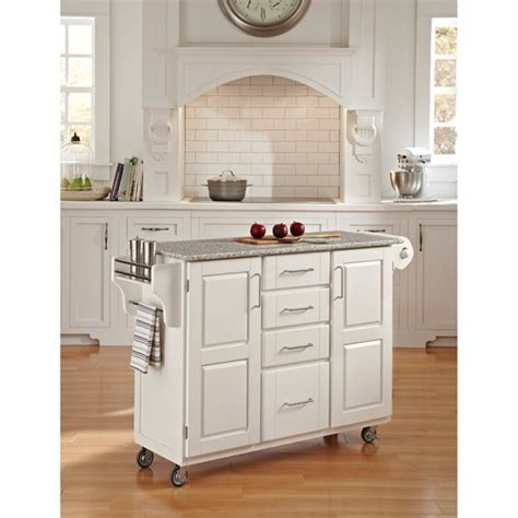 home styles large kitchen cart white salt pepper