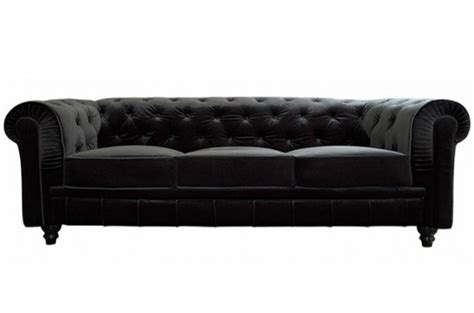 canapé capitonné chesterfield canapé chesterfield velours capitonné noir 3 places city