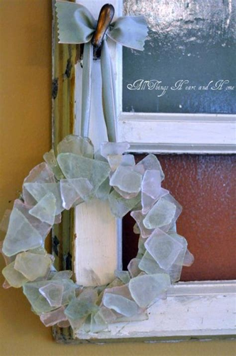 cute diy home decor ideas  colored glass  sea