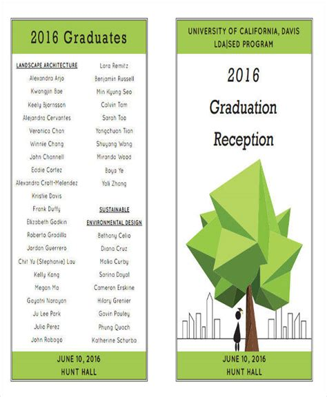 graduation program template 6 graduation program templates pdf word sle templates