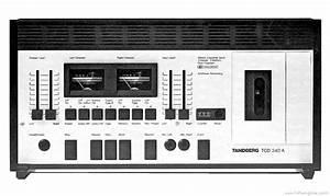 Tandberg Tcd 340 - Manual - Stereo Cassette Deck