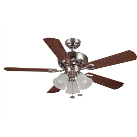 ceiling fans walmart 44 quot honeywell valiant ceiling fan brushed nickel walmart com