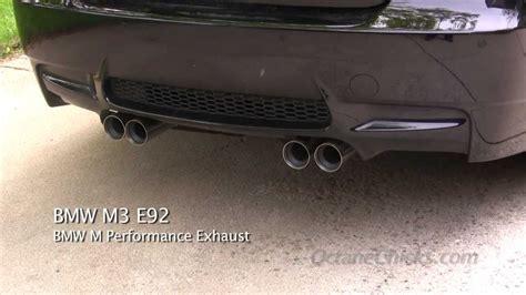 bmw  performance exhaust  stock oem exhaust