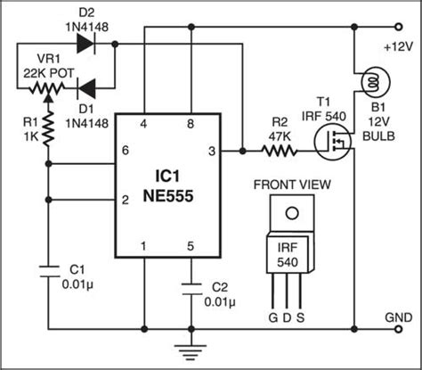 Dome Lamp Dimmer Detailed Circuit Diagram Available