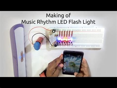 how to make a led flash light using microphone