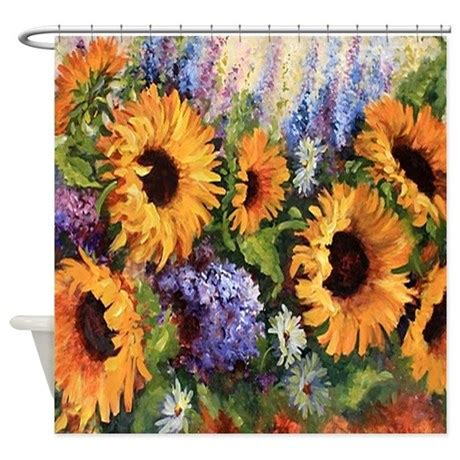 sunflower shower curtain sunflower shower curtain by alittlebitofthis1