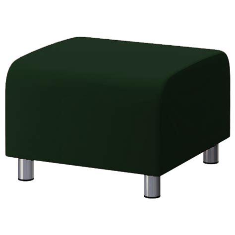 Green Slip Cover by Green Cotton Custom Slip Cover For Ikea Klippan Footstool