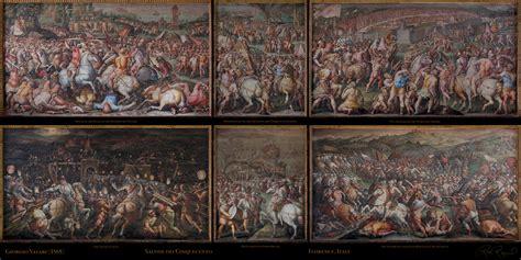 siege de mural vasari 39 s battle of marciano palazzo vecchio florence