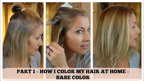 how to color your hair at home part 1 home hair color how i color the base