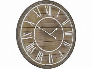 bleached wood wall clock panelled wood wall clock