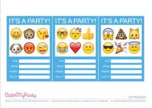 Emoji Birthday Party Invitations Printable Free