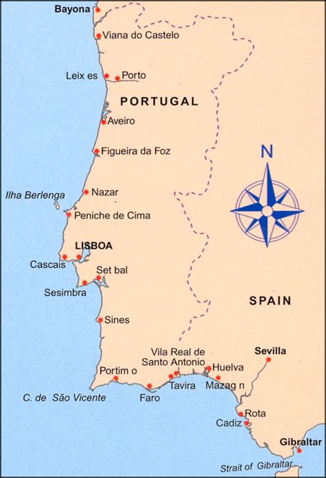 Carte Sud Espagne Portugal by Cruising Companion To South West Spain Portugal Stanfords