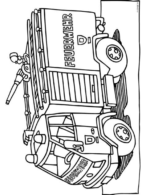 Hulpdiensten Kleurplaat by Kleurplaat Duitse Brandweerwagen Kleurplaten Nl