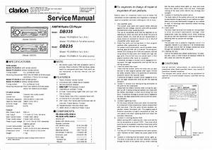 Clarion Db235 Db335 Service Manual Download  Schematics  Eeprom  Repair Info For Electronics Experts