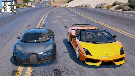 Gta 5 Real Life Child Mod#52-bugatti Veyron Vs Lamborghini