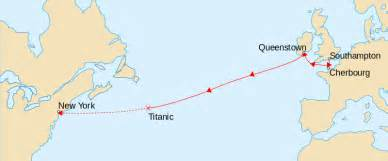 When Did Titanic Sink Date by File Titanicroute Svg Wikimedia Commons