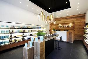 Retail modern lighting spotted in aveda beauty store