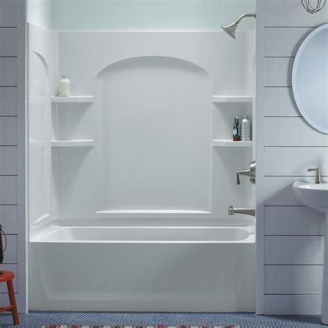 bathtub wall set sterling ensemble 71220110 60w x 74h in curve bathtub