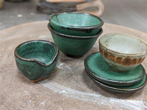 teeny kiln came dishes some pottery