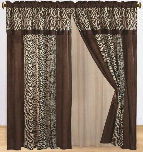 zebra print drapes animal print curtains ebay
