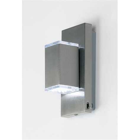 endon 901 ss switched led wall light stainless steel