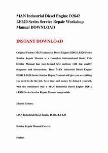 Man Industrial Diesel Engine D2842 Le620 Series Service