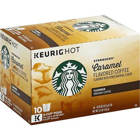 Dietary fiber 0g total sugars 0g. Starbucks Keurig Hot Coffee, Ground, Caramel Flavored, K ...