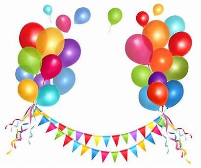 Balloons Transparent Clipart Streamer Birthday Happy Yopriceville