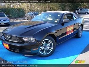 Black - 2010 Ford Mustang V6 Premium Convertible - Stone Interior | GTCarLot.com - Vehicle ...