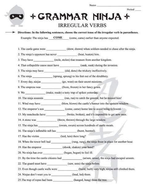 Grammar Practice Worksheets Free Grammar Worksheets For 4th Grade 3 Create Grade 3 And