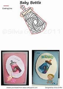 Congratulation New Baby Girl Baby Bottle Iris Folding Cup105112 262 Craftsuprint