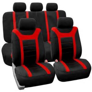 fh group red airbag compatible sports car seat covers