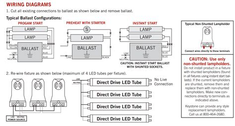 Keystone Foot Dimmable Led Tube Bypass Ballast
