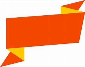 Orange Yellow Banner transparent PNG - StickPNG