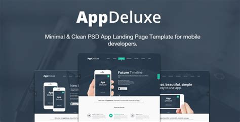 app landing page template 25 best technology psd templates designmaz