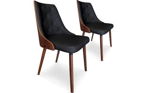 chaises simili cuir lot de 2 chaises bicolore en bois et simili cuir cadixa