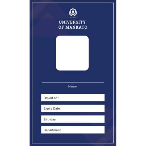 id card templates  sample  format