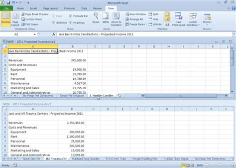 comparing two excel 2010 worksheets side by side dummies
