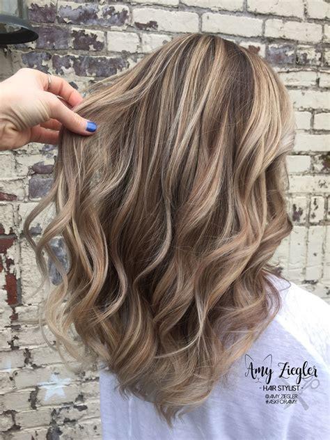 Blonde Balayage And Long Layered Haircut By Askforamy