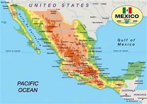 Map of Mexico (Country) Welt Atlas de