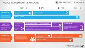 Four Phase Agile Software Release Timeline Roadmap Powerpoint Diagram