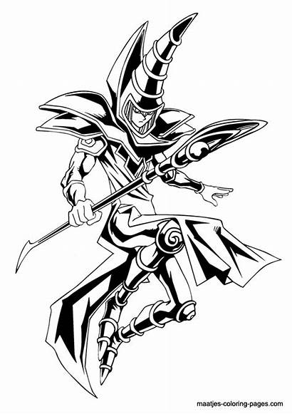 Yu Coloring Gi Oh Pages Magician Dark