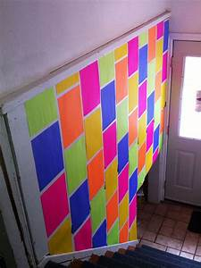 Diy paper wall assorted coloured scissors masking