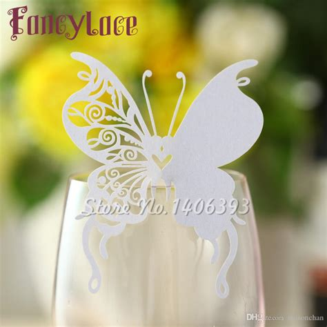 New Arrival Wedding Place Card Butterfly Cups Glass Wine