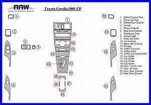 Toyota Corolla Ce Le S Interior Wood Dash Trim Kit Set