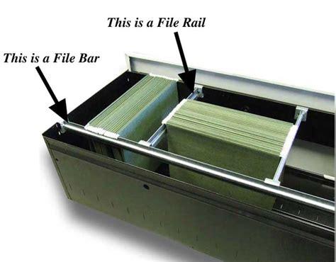 filing cabinet rails file bar or file rail filebars
